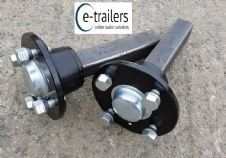 100mm PCD Sealed Bearing Trailer Hub Stub axle set - Quad ATV - High Speed